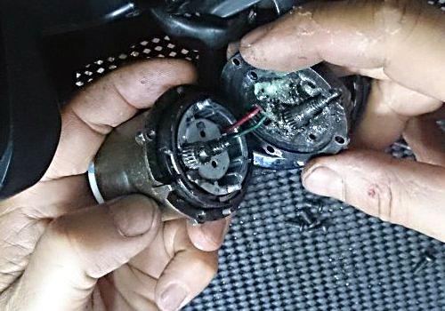 Bmw e53 x5 series power folded mirror rotating gear fong for Power mirror motor repair